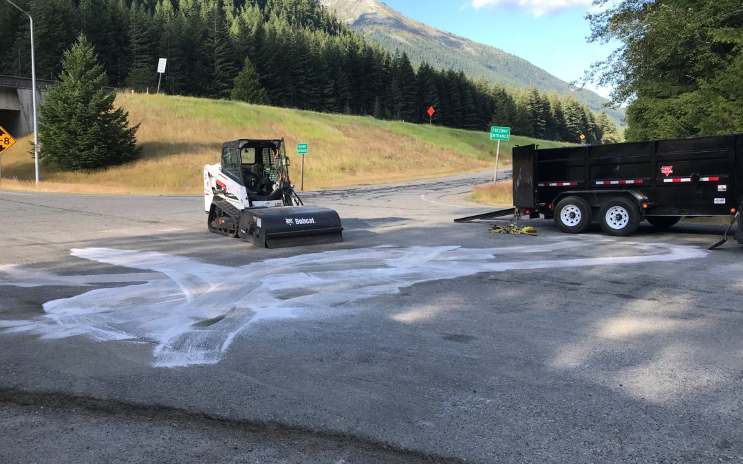 2018-08-08: Diesel Fuel Oil Spill on Snoqualmie Pass, WA