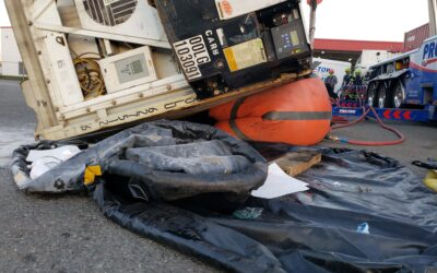 2020-10-28: Extensive Spill Recovery for Tractor Trailer Accident